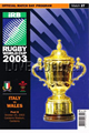 Italy v Wales 2003 rugby  Programmes
