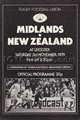 Midland Division v New Zealand 1979 rugby  Programme