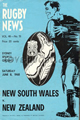 New South Wales v New Zealand 1968 rugby  Programme