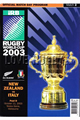 New Zealand v Italy 2003 rugby  Programmes