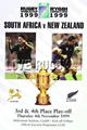 New Zealand v South Africa 1999 rugby  Programmes