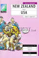 New Zealand v USA 1991 rugby  Programme