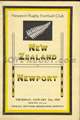 Newport v New Zealand 1954 rugby  Programme