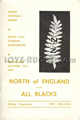 North of England v New Zealand 1967 rugby