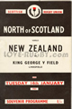 North of Scotland v New Zealand 1964 rugby  Programme