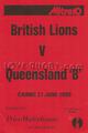 Queensland B British Lions 1989 memorabilia