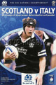 Scotland v Italy 2005 rugby  Programme