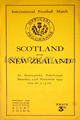 Scotland v New Zealand 1935 rugby  Programmes
