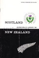 Scotland v New Zealand 1964 rugby  Programme