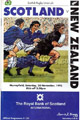 Scotland v New Zealand 1993 rugby  Programmes