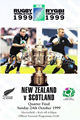 Scotland v New Zealand 1999 rugby  Programmes