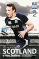 Scotland v New Zealand 2010 rugby  Programmes