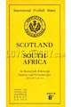 Scotland v South Africa 1951 rugby  Programmes
