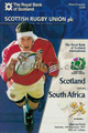 Scotland v South Africa 1997 rugby  Programmes