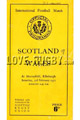 Scotland v Wales 1951 rugby  Programme
