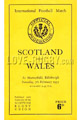 Scotland v Wales rugby Programmes 1953