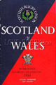 Scotland v Wales 1955 rugby  Programmes