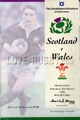 Scotland v Wales 1995 rugby  Programmes