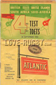 South Africa v British Isles 1955 rugby  Programmes