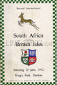 South Africa v British Isles 1962 rugby  Programmes