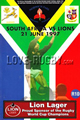 South Africa v British Lions 1997 rugby  Programme