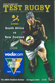 South Africa v New Zealand 2002 rugby  Programme