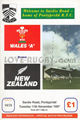Wales A v New Zealand 1997 rugby  Programmes