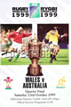 Wales v Australia 1999 rugby  Programme