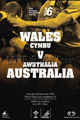 Wales v Australia 2006 rugby  Programme