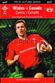 Wales v Canada 2002 rugby  Programmes
