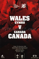 Wales v Canada 2006 rugby  Programme