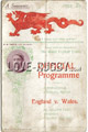 Wales v England 1907 rugby  Programmes