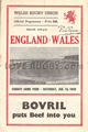 Wales v England 1949 rugby  Programmes