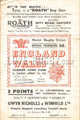 Wales v England 1953 rugby  Programme