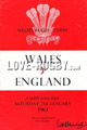 Wales v England 1961 rugby  Programmes