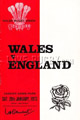 Wales - England rugby  Statistics