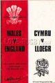Wales v England 1979 rugby  Programmes