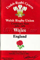 Wales v England 1981 rugby  Programmes