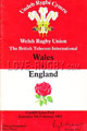 Wales v England 1983 rugby  Programme