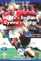 Wales v England 1999 rugby  Programme