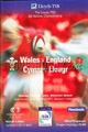 Wales v England 2001 rugby  Programme