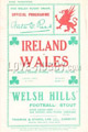 Wales v Ireland 1926 rugby  Programme