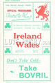 Wales v Ireland 1930 rugby  Programmes