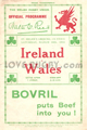 Wales v Ireland 1934 rugby  Programmes