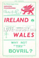 Wales v Ireland 1936 rugby  Programmes