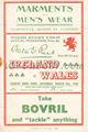 Wales v Ireland 1946 rugby  Programme