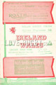 Wales v Ireland 1951 rugby  Programmes