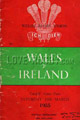 Wales v Ireland 1955 rugby  Programmes
