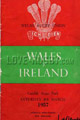 Wales v Ireland 1957 rugby  Programmes