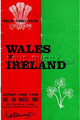 Wales v Ireland 1969 rugby  Programmes